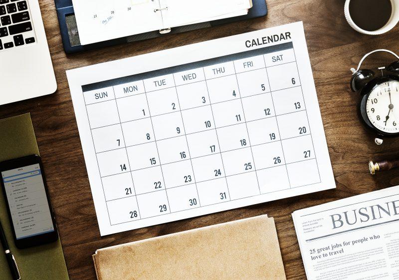 calendrier contenu